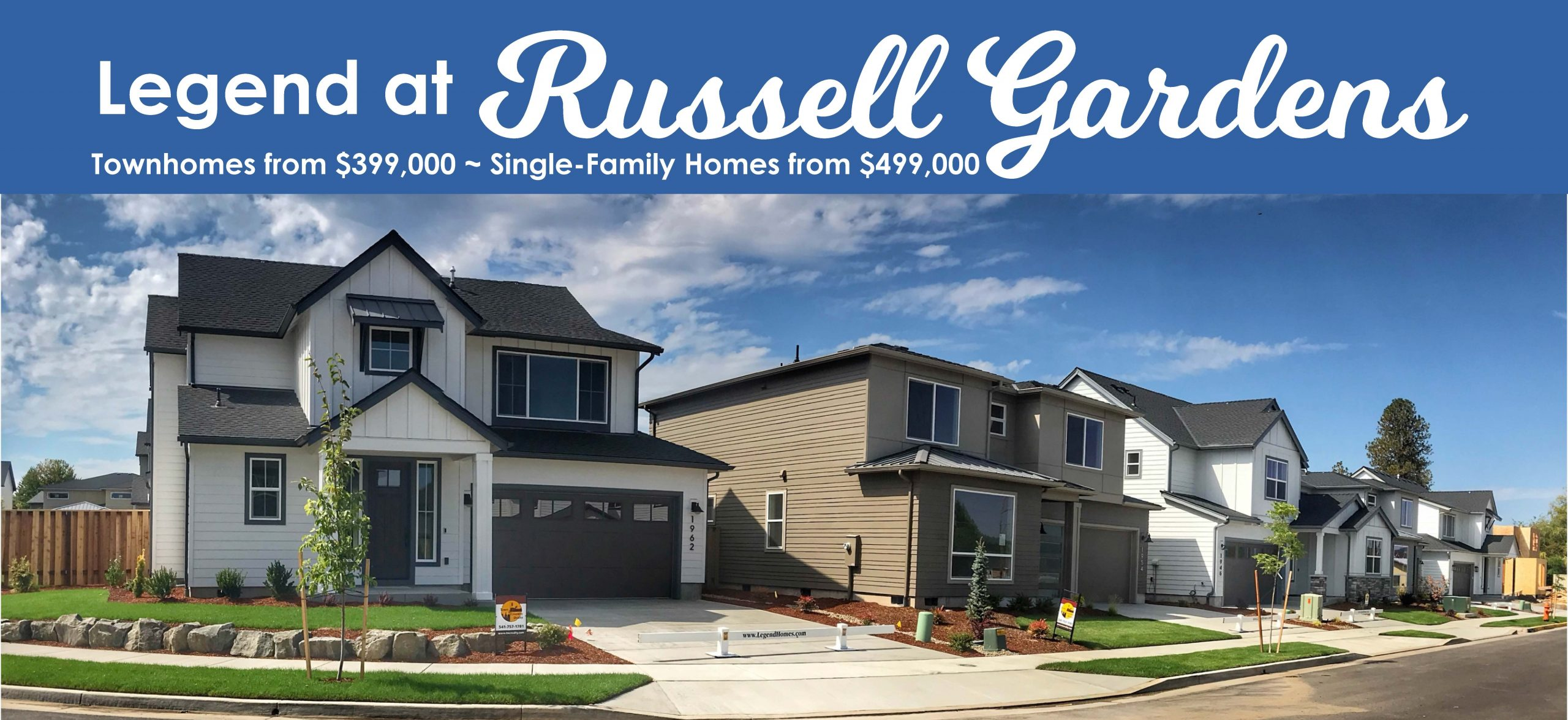 Special Pricing on 6 Select Homes.  Starting from $399,000!